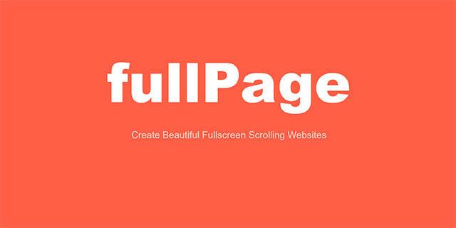 フルスクリーン表示のスクロールページをカンタン作成できるjQueryプラグイン「fullPage.js」